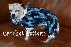 4 legged Dog jammie Crochet pattern  ... by Posh Pooch   Crocheting Pattern