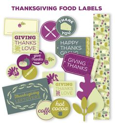 Thanksgiving_To_Go_FoodLabels  freebie from liagriffith.com on worldlabel.com blog . #Thanksgiving #togo #labels #freeprintables tags for food and drink #leftovers  http://blog.worldlabel.com/2014/thanksgiving-labels-for-to-go-boxes-and-leftovers.html