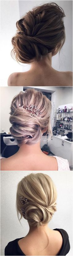 elegant updo wedding hairstyles #weddinghairstyles #bridalfashion #updohairstyles