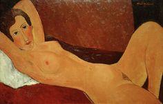 2-M145-A3-1918-21 (992119) 'Liegender Akt (Céline Howard)' Modigliani, Amedeo 1884-1920. 'Liegender Akt (Céline Howard)', 1918. Öl auf Leinwand, 65 x 100 cm. Privatsammlung. MONDADORI PORTFOLIO/AKG Images