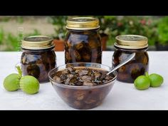 Dulceata de nuci verzi | JamilaCuisine - YouTube Marmalade Jam, Pickling Cucumbers, Preserves, Pickles, Recipies, Stuffed Mushrooms, Merida, Food And Drink, Cooking Recipes