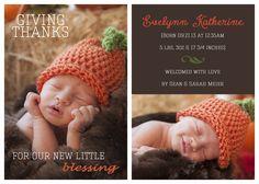 fall birth announcement; autumn birth announcement; blessings; thanksgiving birth announcement; newborn birth announcement; Chasing Sky Photography
