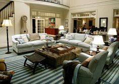 """Somethings Gotta Give"" living room.  I love this room.  Actually, I loved all the rooms in this movie house.  The kitchen is to DIE for!"