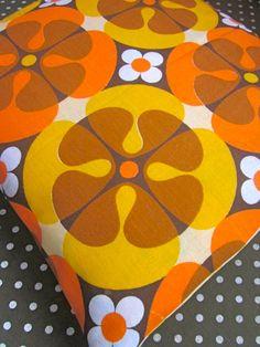 Pomme de Jour Vintage Fabric Cushion Cover  1970s by Pommedejour, (LOVE THIS!!!)