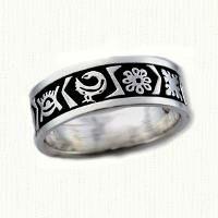 African Inspired Wedding Rings