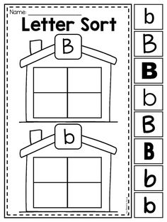 Letter B sort. This MEGA Alphabet Bundle features 156 printables which cover each letter of the alphabet. It requires NO PREP and includes a range of activities. It is great for literacy centers, whole class activities and alphabet interventions.