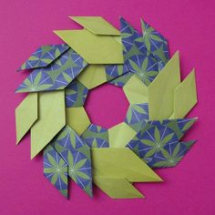Origami, Ghirlanda di foglie - Garland of Leaves by Francesco Guarnieri