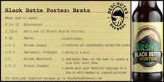 How about cooking up some Black Butte Porter brats for dinner?
