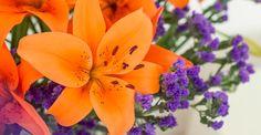 KW 18: 6 Lilien und 5 Strandflieder für die Bodenvase