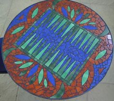 !!!!!!!!!!!!!!!SUPER TAVLI TABLE!!! WHAT A GREAT IDEA!!!mosaic table top
