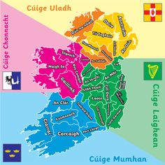 I am from Dublin => Is as Baile Átha Cliath mé. We are from Mayo = Is as Maigh Eo muid Irish Memes, Irish Customs, Ireland Map, Ireland Travel, Gaelic Words, Celtic Nations, St Brigid, Irish Language, Irish Landscape
