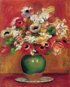 Flowers: 1885 by Pierre-Auguste Renoir (The Barnes Foundation, Philadelphia, PA) - Post Impressionism