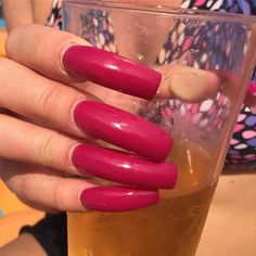 On vacation and my nails seem to be grabbing a lot of attention! Long Red Nails, Long Fingernails, Long Acrylic Nails, Sexy Nails, Pink Nails, Long Natural Nails, Exotic Nails, Claw Nails, Dream Nails