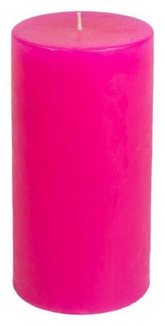 Classic Hurricane Pillar Candles (Pair) | Hot Pink