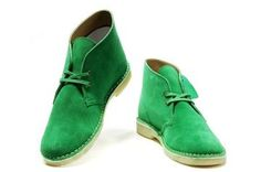 Green Clarks Boots