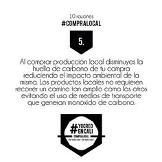 Comprando local también ayudas al medio ambiente!  #YoComproLocal #CompraLocal #YoCreoEnCali #10razonesparacomprarlocal