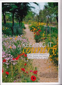 Garden & Home magazine feature farm garden in Cullinan Primroses, Farm Gardens, House And Home Magazine, Shabby Chic, Home And Garden, South Africa, Plants, Plant, Planets