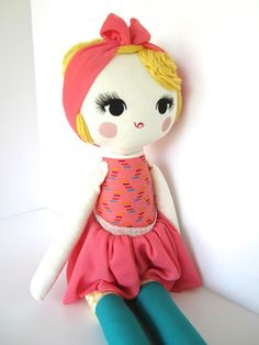 Custom Order Cloth Doll by Mend by Ruby Grace por MendbyRubyGrace, $100.00