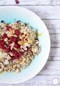Bestes Frühstück: Overnight Quinoa mit Himbeeren und Kokos | Marille's Cuisine  #Breakfast #glutenfree #dairyfree #vegan