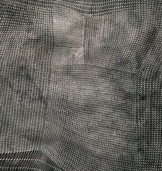 """""""Sam Messenger / series of ink on paper  www.sammessenger.com    """"Veil From Oceanus"""" 2011 is part of Sam Messenger's """"Six Veils"""" series, a set of ink-on-paper pieces that accomplish rich monochromatic textures through razor-thin intersecting lines. This piece came from the Davidson Contemporary gallery.  www.davidsoncontemporary.com"""""""