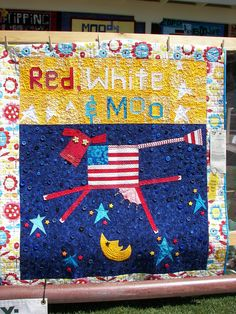 Red White and Moo, 2013 Sisters Quilt Show. variation of The Purple Cow pattern by Mary Lou Weidman  McFarland
