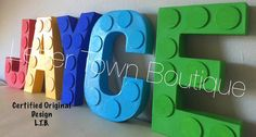***LETTERS ARE PRICED INDIVIDUALLY***NOT PER SET*** Lego Letters Lego Birthday Lego Baby Shower Lego Land Party Lego 1st Birthday Lego Centerpieces Lego Cake Table Beautifully Hand Painted and Designed Decorative Letters Letters measure 8 inches tall Free Standing Letters Legal Notice: Not a licensed item. All characters used have a maintained copyright. All copyrights and trademarks of the character images used belong to their respective owners and are not being sold. This item is not...