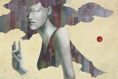 — 篠崎率のポートフォリオ — loftwork.com Illustration Competitions, Grand Prix, Illustrators, Japanese, Cards, Painting, Book, Japanese Language, Painting Art
