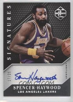 2015-16 Panini Limited Limited Signatures Spotlight Silver #LS-SH - Spencer Haywood /25