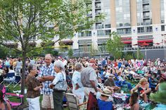 Hot nights and cool Jazz - Jazz on the Green, Thursday's at Midtown Crossing