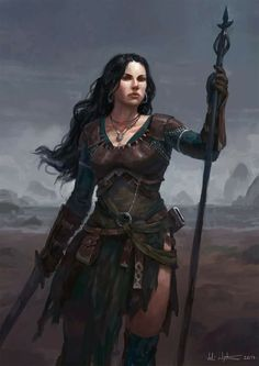 f Cleric med Armor Staff Sword wilderness