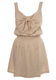 nude dress with bow