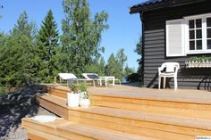 altan,lärk,terass,trappa Decking, Curb Appeal, Terrace, Porch, Gardens, Simple, Outdoor Decor, House, Inspiration