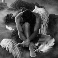 fantasy i would stick by him in my dreams he will be my protector a lone angel seeking peace. And I find him: Angels Among Us, Angels And Demons, Fantasy World, Fantasy Art, Male Angels, I Believe In Angels, Ange Demon, My Guardian Angel, Angel Art