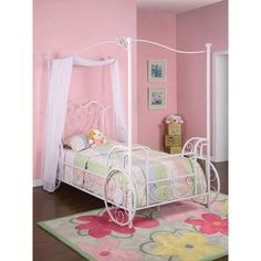 A bed Cinderella herself would love. Princess Emily Carriage Canopy Twin Size Bed (includes Bed Frame). http://www.dynamichomedecor.com/Powell-374-042.html #princess #Cinderella #carriage #bed #bedroom #girl #littlegirl #white #canopy #decor #furniture #homedecor #bedroomideas #interiordesign