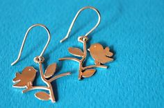 Sterling silver jewelry  Bird earrings  Tiny by SilverTemptation, $25.00