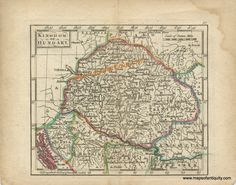 Kingdom of Hungary - Antique Maps and Charts – Original, Vintage, Rare Historical Antique Maps, Charts, Prints, Reproductions of Maps and Charts of Antiquity
