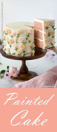 What are you making for Mother's Day? How about this super easy Painted Cake? I walk you through the whole process of making this flower cake and you can make your mother feel really special. #bestcakes #desserts #mothersday #baking #easybaking #flowercakes #cake #cakedecorating #cakedesign #cakeart