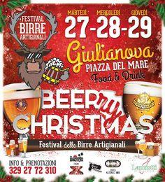 """Giulianova. Arriva """"Beer Christmas"""" , Festival delle birre artigianali"""