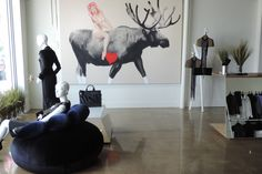 Instead of establishing a simple point of sale in Wynwood, Marie Saint Pierre chose to open a unique concept of shop/gallery where art, fashion and design meet, interact and influence each other. Modern Art, Miami, Have Fun, Concept, Boutique, Lifestyle, Simple, Fashion Design, Home Decor
