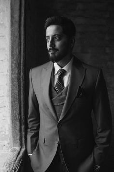 Our handsome groom on his walima day # Casual Outfits, Men Casual, Walima, Couple Shoot, Black And White Photography, Desi, Groom, Suit Jacket, Handsome