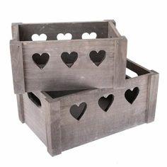Set de cutii decorative din lemn Hearts 2 buc, gri Decorative Boxes, Hearts, Home Decor, Decoration Home, Room Decor, Home Interior Design, Decorative Storage Boxes, Home Decoration, Interior Design