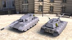 """Super heavy tank designed and produced by KIROV for Nemesis military. Codename """"Snow Wolf"""". Combination of thick armor and good mobility makes this tank a very dangerous foe. Armor type multilayer ..."""