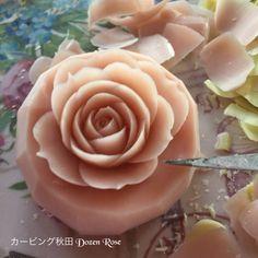 カービング秋田 Dozen Rose〜 ソープカービングSoap carving work#craft#石鹸彫刻#Soap flower