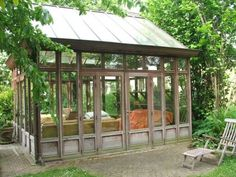 """Imagine the creativity, productivity, and selflessness that could be accomplished in such a """"work"""" environment.  I would hurt from smiling so much at the end of each day.  And it sure as heck would be hard to actually end each day - who would ever want to leave? #conservatorygreenhouse"""