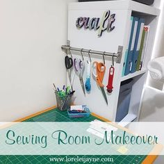 Sewing room makeover. In a rental