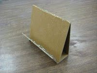 simple easels for displays from scrap cardboard (website shows how to make these)