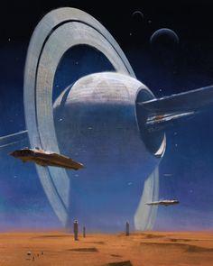 52 trendy ideas concept art fantasy world sci fi Arte Sci Fi, Sci Fi Art, Fantasy Kunst, Sci Fi Fantasy, Fantasy World, Cyberpunk Kunst, Sci Fi Kunst, Concept Art Landscape, Fantasy Landscape