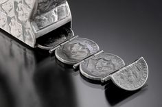 Tools made from coins - Stacey Webber
