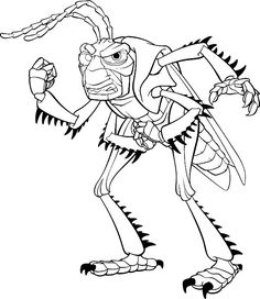 A Bugs Life Online Coloring Pages Printable Activities Book For Kids