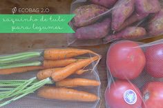 Ecobag de tule para frutas e legumes